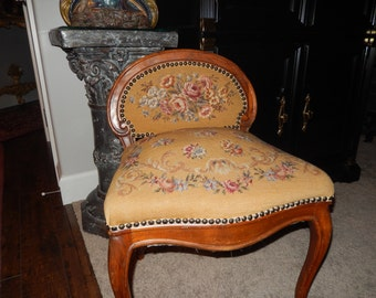 FRANCE NEEDLEPOINT CHAIR
