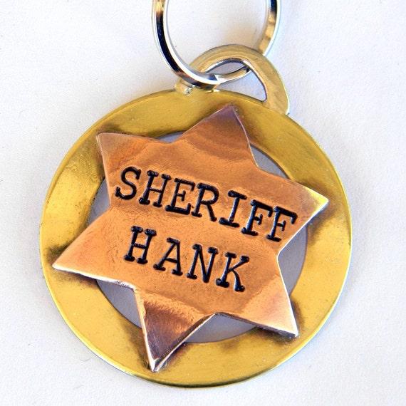 Sheriff Badge Name Tags