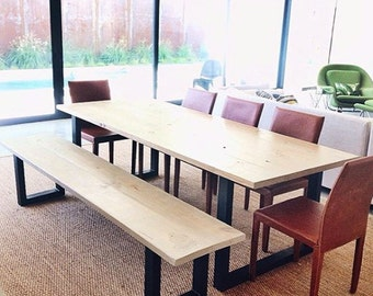 Modern Dining Table & Bench Set