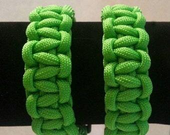 Large Neon Green Paracord Bracelet
