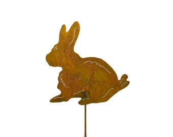 Rabbit Metal Garden Stake, Yard Art GS3