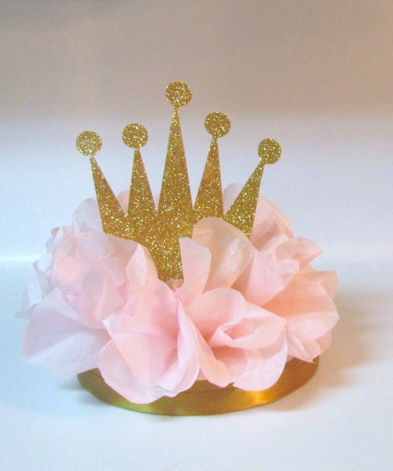 Crown Tiara Glitter Centerpiece Pink Gold Royal by ...