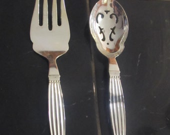 Wallace Salad Silver plated Spoon and Fork Set.