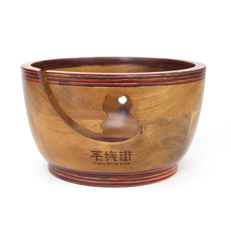 Knitting Bowls Wood : Knitting crochet wood yarn bowl by yarnbrandstreet on etsy