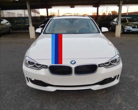 M Style Hood Stripe Hash Mark Racing Stripe Rally Decal Kit - Bmw racing stripes decals