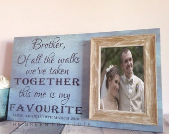 Wedding Gift For Brother - Best Friend Gift - Brother Of The Bride Gift Ideas - Unique Wedding Gift For Sibling - Rustic Wedding Gift