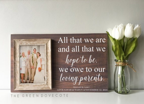 Mother Of The Bride Gift Wedding Gift For Parents Parents