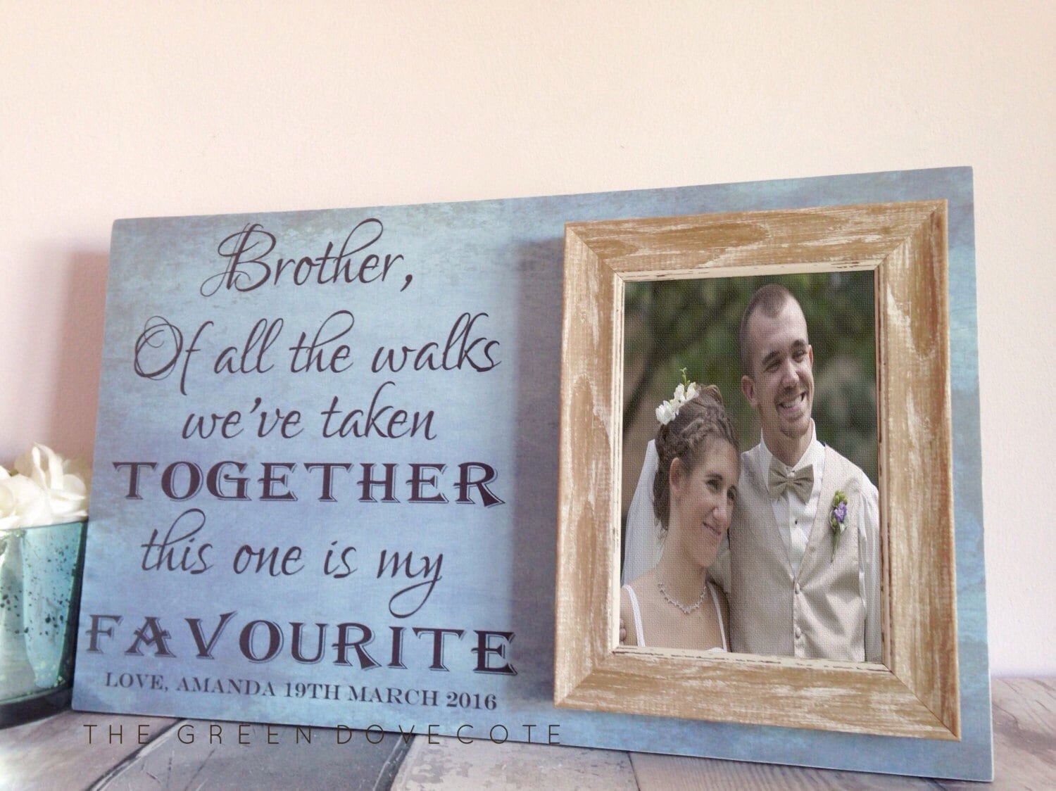 Brother Wedding Gift: Brother Wedding Gift Of All The Walks We've Taken Frame