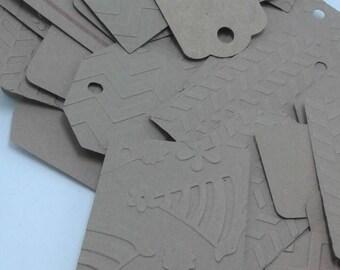 Gift tag assortment, kraft paper cardstock