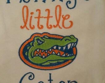 Florida Gators Mommy or Daddy's Little Gator Custom shirt/onesie. both boy or girl!