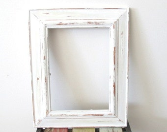 Rustic Frame Beach Distressed Picture Frame White Wooden 5x7 Photo Frame Shabby chic frame
