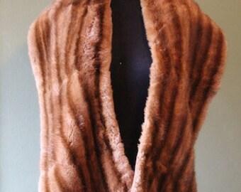 Beautiful Vintage 1950's Mink Fur Stole/Coat