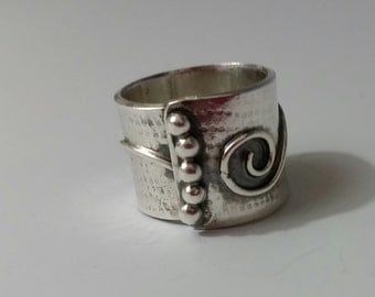 Handcrafted Sterling Silver Wrap Ring