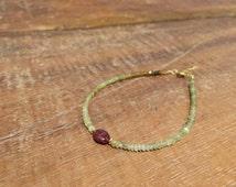 Bracelet Garnet grossular