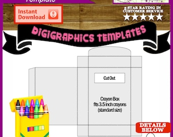 crayon labels template - crayon labels etsy