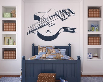 Les Paul Electric Guitar Wall Art Sticker (AS10013)