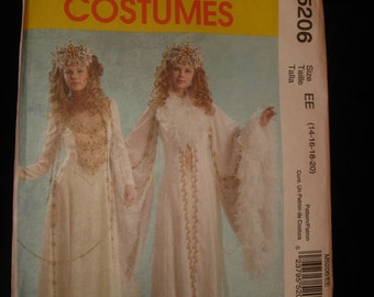 Mccalls Sewing Pattern Size 14 - 20 make Snow Queen, Narnia, White Witch, Medieval Costume Uncut