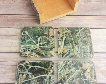 Duck Hunter Coaster Set | Hunting Coaster Set | Hunter Man Cave Coasters | Rustic Coasters | Drink Coasters |  READY TO SHIP