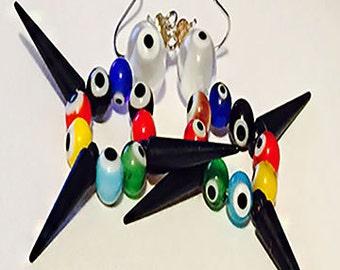 All eyes earrings