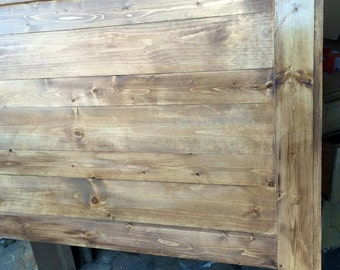 Duo Listing -- waxed pine and barnwood- Queen (Local)