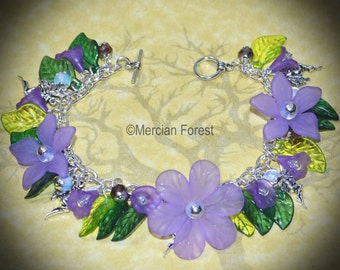 Memories of Arcadia Fairy Bracelet - Handmade Flower Fairy Jewellery Inspired by the Realm of Fairy, Fae, Sidhe,