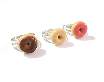 Donut Rings Kawaii Miniature Food Jewelry