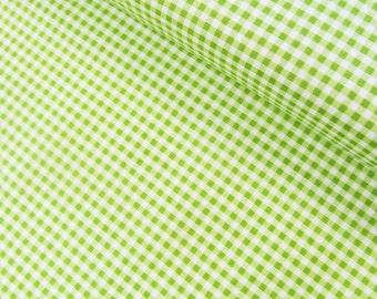 Green Gingham - 1/8 inch stripes - Riley Blake Designs