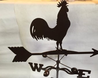 Metal  Rooster Wind Vane, Garden Decor, Garden Art,