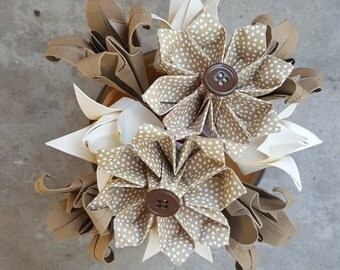 Nuetral Origami Flower Arrangement