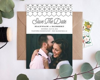 Wedding Save the Date - Just My Type - Card & Envelope