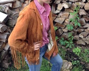 Adelina Jacket- 60s HANDMADE Deerskin Suede Fringe Jacket