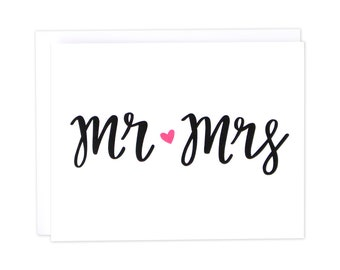 Wedding Card, Mr and Mrs Card, Wedding Mr. and Mrs., Love Card, Wedding Card, Husband Wife, Mr & Mrs, Wedding Bride and Groom, Wedding