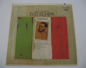 Rare! - Tito Schipa - Pop Songs In Italian - Circa 1963