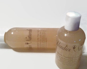Natural Flaxseed Curly Hair Gel 8oz bottle