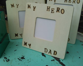 My Dad My Hero Picture Frame for Father's Day, Birthday, and Anniversary