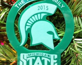 Michigan State Christmas Ornament Rear view mirror charm