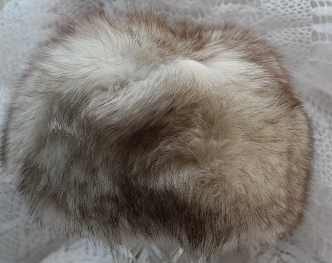 fox fur hat, fur hat, winter hat, vintage fox fur, geniune fox fur hat, warm hat, vintage hat, geniune hat, fox hat, small size fox fur hat