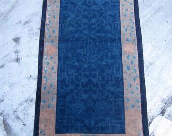 Antique Peking Chinese Oriental Rug , Northeast China 1920's , 5.9 x 3