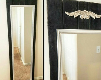 Decorative Planked Mirror - Wall Mirror - Tall Mirror