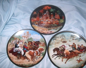 Set of Six Vintage Collectors Plates, Bradex, 1990, (Price for All), WAS 50.00 - 50% = 25.00