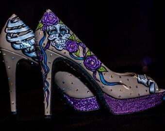Custom Personalized OOAK Bridal High Heels Shoes