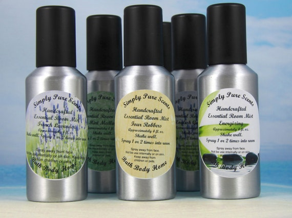 Aromatherapy Room Mist Bathroom Spray Essential Oil Room