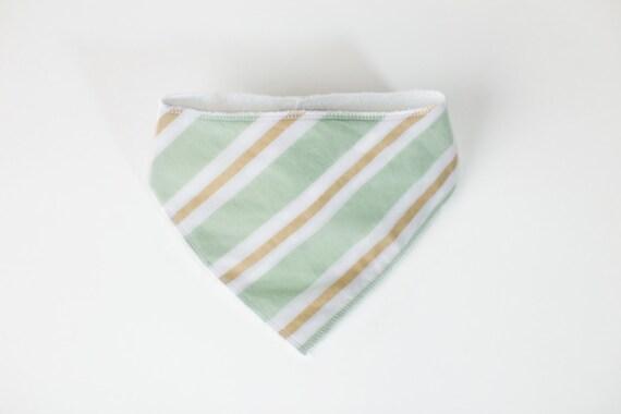 Bandana Bib - Bandana Drool Bib - Baby Bandana Scarf - Cotton Bandana Bib – Stripe Bandana Bib – Stripe Drool Bib – Stripe Baby Scarf