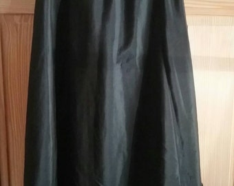 Victorian Antique Wool Challis Skirt With Ruffles