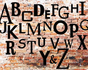 Wooden Alphabet - Nursery Decor Wooden Letters - Wall Hanging Letters - Letters for Nursery/ Playroom - Full Set of letters mixed fonts