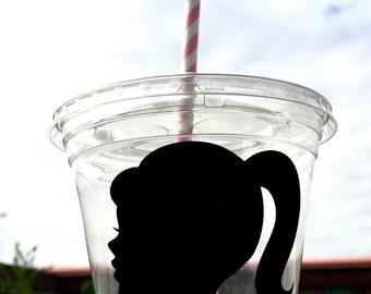 12 oz disposable barbie cups