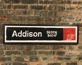 Cubs Red Line Stop, Chicago Red Line, Wrigley Field, Chicago Transit System, Train Art, Street Art, Chicago Cubs, Red Line, Cubs, Addison