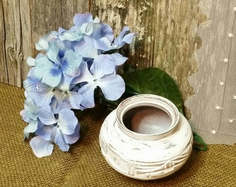 Wooden Vase, Shabby Chic Vase, Small White Wooden Vase, White, RobinsStudio, Shabby Chic, Vintage, Cottage Chic, Recycled, Rustic, Chic