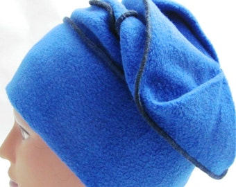 "Royal Blue Slinky ""Fleece Box"" Hat"