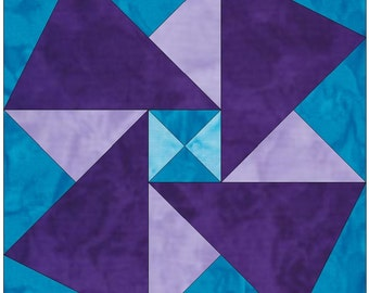Origami Paper Template 10 Inch Quilting Block Pattern PDF